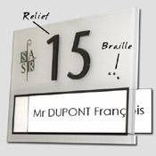 Numéro de porte Personnalisable avec braille