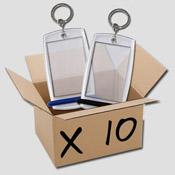A. Boite de 10 porte-clés Minicréoglass