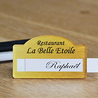 Badge nominatif pour restaurant