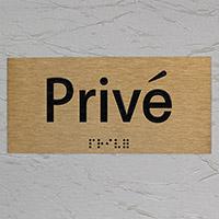 Plaque privé or brossé marquage relief et braille