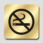 Signalétique non fumeur laiton
