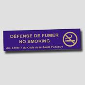 Lot de 5 non fumeur 20cm x 5cm Bleu