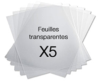 Films transparents pour badges nominatifs