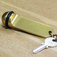 Porte clef boule aluminium vierge