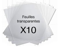 Films transparents pour badges
