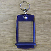 Porte-clés Mini Créoglass Color Bleu Translucide X10