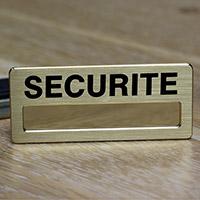 Badge pour agent de sécurité