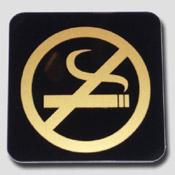 Plaque non fumeur noir et or