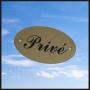 Plaque privé laiton
