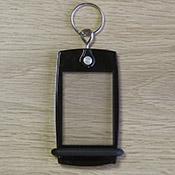 Porte-clés Mini Créoglass Color Noir Translucide X10