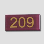 Numéro de table plexiglas