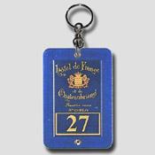 Porte clé hôtel créotel bleu