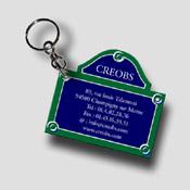 Porte clé publicitaire plaque de PARIS