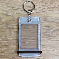 Porte-clés Mini Créoglass Texture Argent Brossé X10