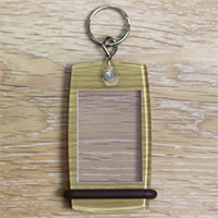 Porte-clés Mini Créoglass Texture Bois X10