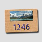 Numéro de porte avec photo