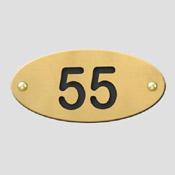 Numéro de table laiton