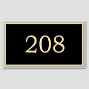 Numéro de porte noir et beige