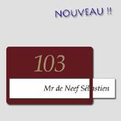 Plaque Personnalisable Bordeaux