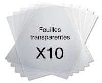 Films transparents pour badges nominatis