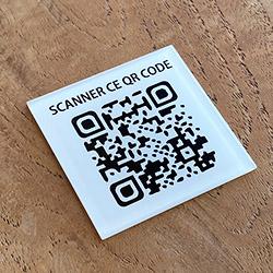 Menu QR code de table - 4 x 4 cm