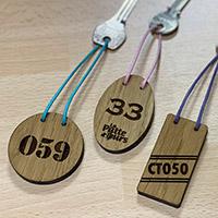 Porte clé en bois écologique