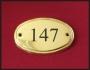 Numéro de porte laiton 11,5 x 7,5 x 1cm