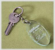 Porte-clés gravé altuglass