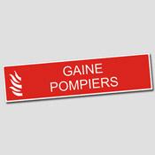 Plaque Gaine Pompiers