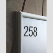Porte affiche A5 + Relief 1 A 3 CHIFFRES