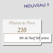 Numéro d'Hôpital Personnalisable