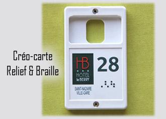 Porte-clés Relief et Braille Créo-carte