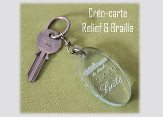 Porte-clés Relief et Braille Créolaz