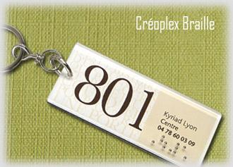 Porte-clés Relief et Braille Créoplex
