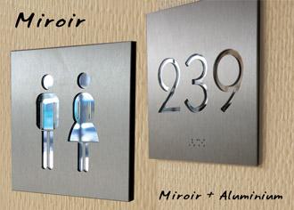 Signalétique Miroir