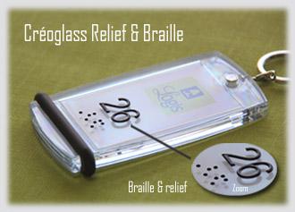 Porte-clés Relief et Braille Créoglass