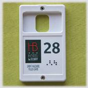 Porte clés porte-carte  relief et braille