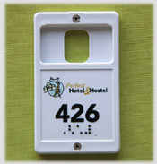 Porte-carte marquage relief & braille