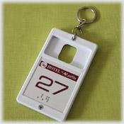 Porte-carte relief & braille avec anneau