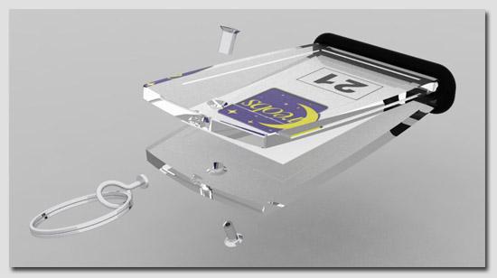 porte clé creoglass 3D