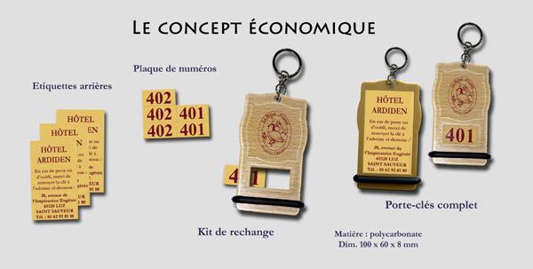porte-clé plastique