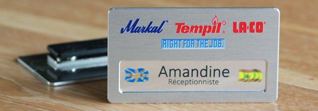 badge nominatif bureau