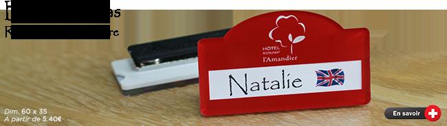 babge badge nominatif en plexiglas