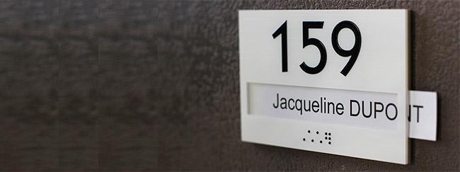 numéro de porte à glissière pour bureau