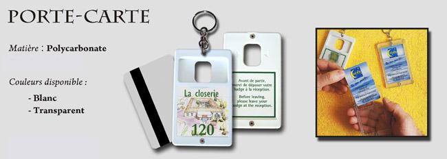 porte-clé porte-carte